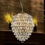 Crystal lux CHARME SP3+3 LED ORO CRYSTAL